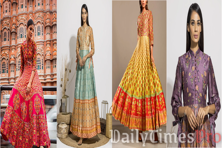 Have an Affair with Intricate Designer Anarkali Suits Online