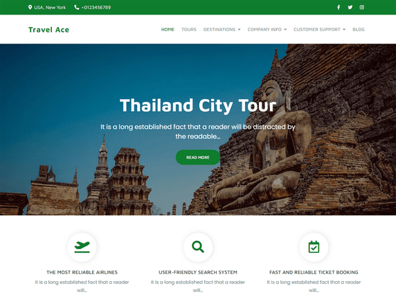 10 best free travel blog WordPress theme in 2021 | Travel Ace