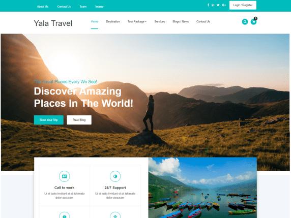 10 best free travel blog WordPress theme in 2021 | Yala Travel
