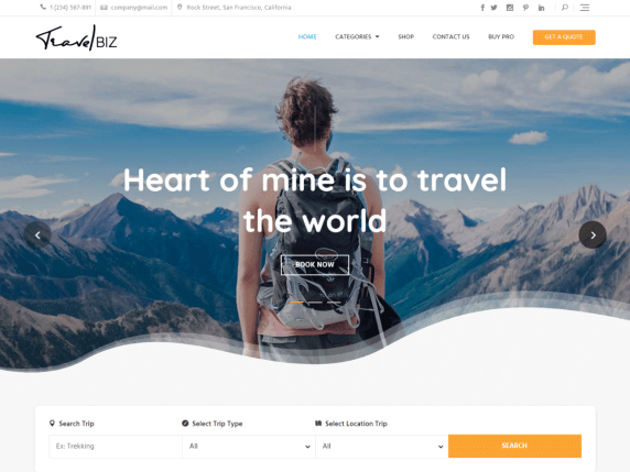 10 best free travel blog WordPress theme in 2021 | Travelbiz