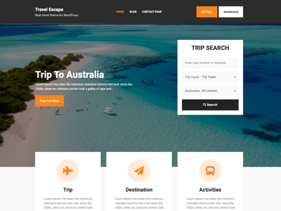 10 best free travel blog WordPress theme in 2021 | Travel Escape